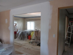 Opening up the wall between the two rooms made a huge difference.